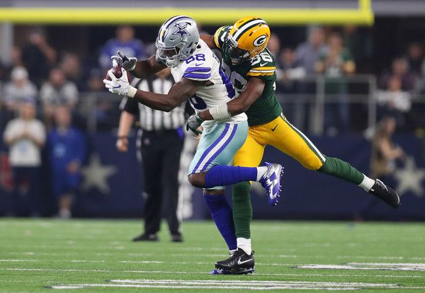 Dez Bryant Photos Photos - Dez Bryant #88 of the Dallas Cowboys catches a pass for a first down during the third quarter against the Green Bay Packers in the NFC Divisional Playoff game at AT&T Stadium on January 15, 2017 in Arlington, Texas. - Divisional Round - Green Bay Packers v Dallas Cowboys