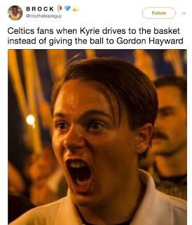 Kyrie Irving Memes - Top 10  Kyrie Irving is gone. The Cleveland Cavaliers traded him to the Boston Celtics for Isaiah Thomas Jae Crowder Ante Zizic and the Brooklyn Nets 2018 unprotected first round draft pick. Isaiah is a liability so it will be difficult for LeBron and the Cavs to win the 2018 NBA Championship. Hopefully we'll see glimpses of the old Derrick Rose.  Kyrie Irving Memes  Do you believe in the NBA 2K curse?  Kyrie Irving Memes  The 10 funniest Kyrie Irving memes are provided…