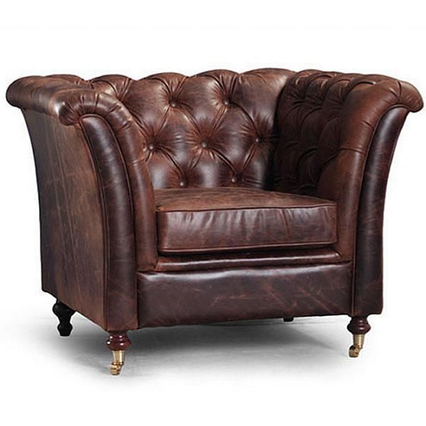 Oldman Industrial Reclaimed Wood Desk Leather Armchair Vintage