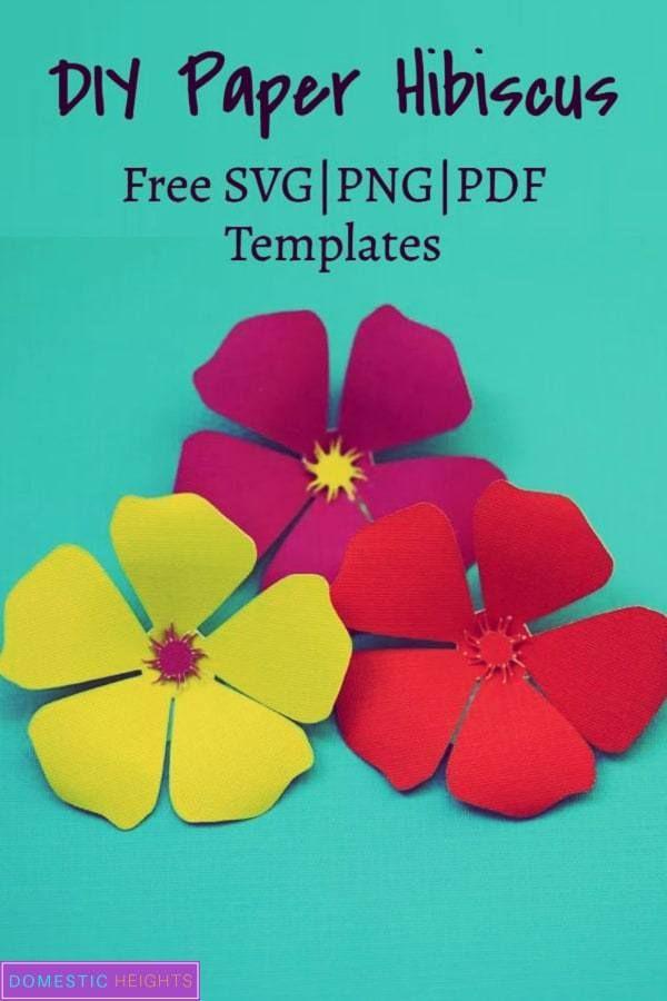 Hawaiian Hibiscus Paper Flowers Template Free Paper Flower