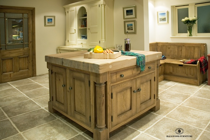 Our oak island which has a solid 4 inch thick oak top.