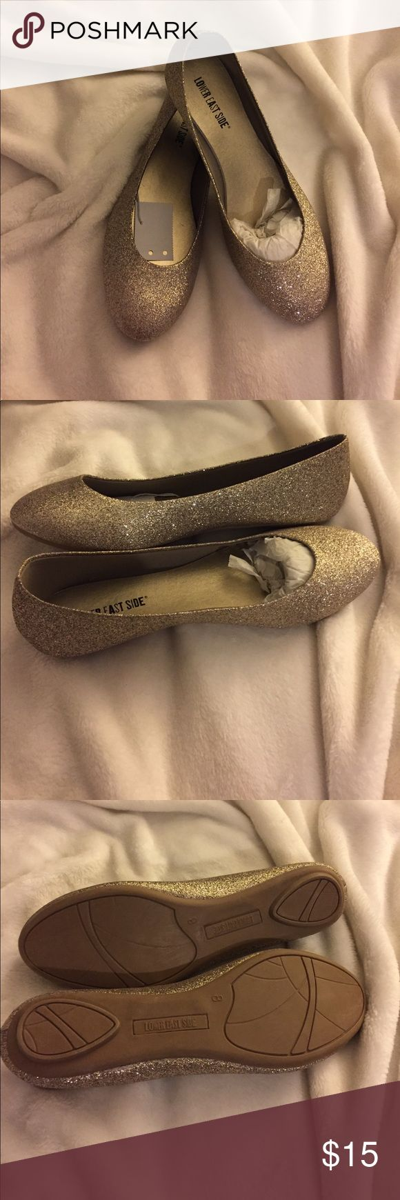 Gold Sparkle Flats Cute sparkled flats! Never worn! Shoes Flats & Loafers