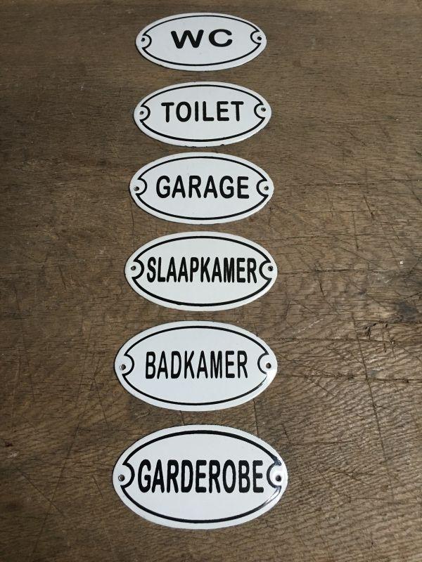 Nostalgische deurbordjes deur bordje bordje plaatje wc toilet garage slaapkamer badkamer garderobe