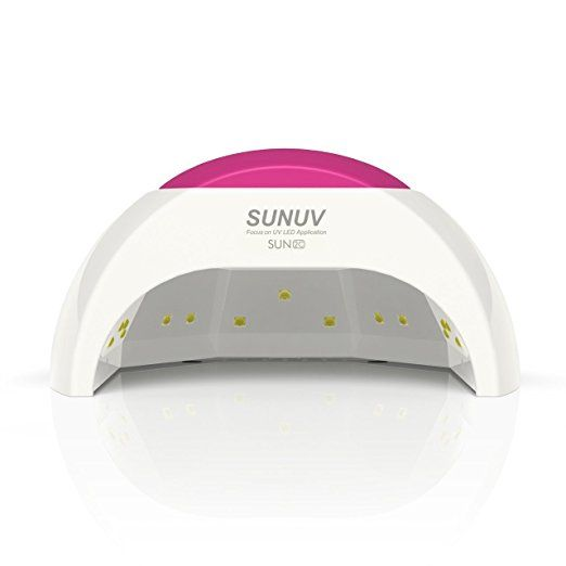 AmazonSmile : SUNUV SUN2C 48W LED UV nail Lamp with 4 Timer Setting, Senor For Gel Nails and Toe Nail Curing : Beauty
