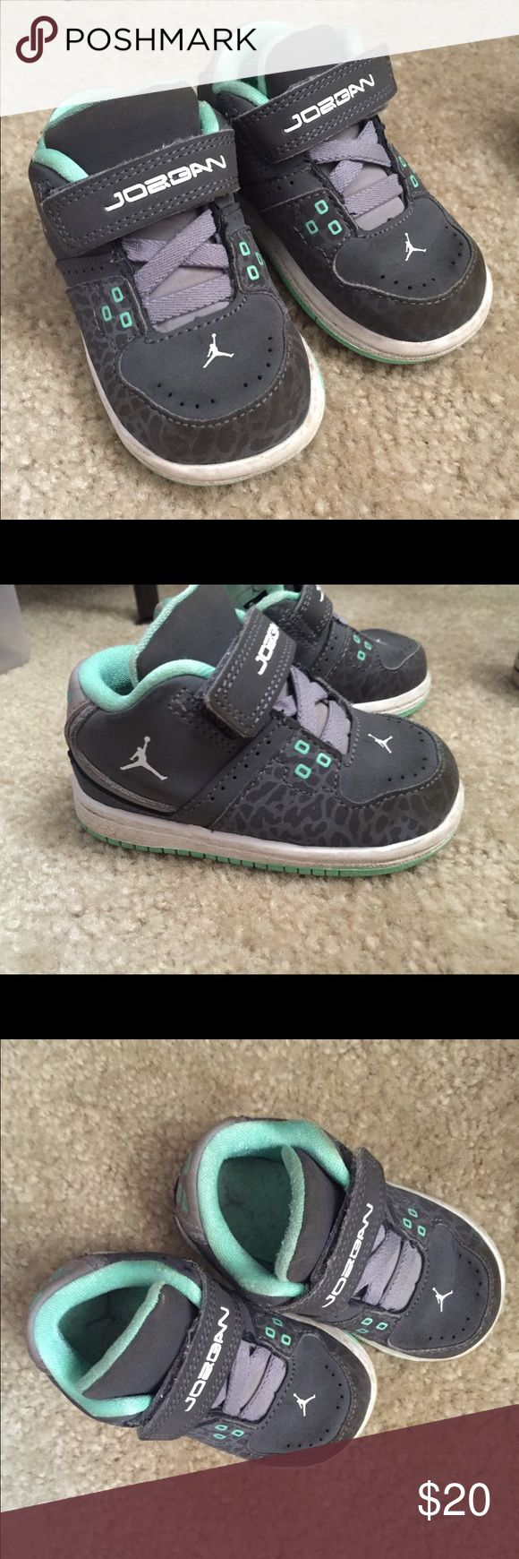 Baby Jordan's 3T 3T Jordan's gray and teal Jordan Shoes Sneakers