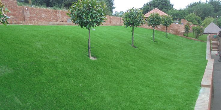 If done correctly fitting artificial grass on a slope will give you that natural lush green grass or year long with little or no maintenance