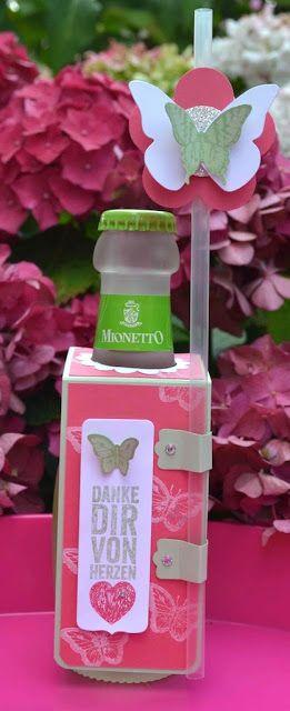 klikaklakas kreativer kram: Flaschenanhänger & Schmetterlingspaket