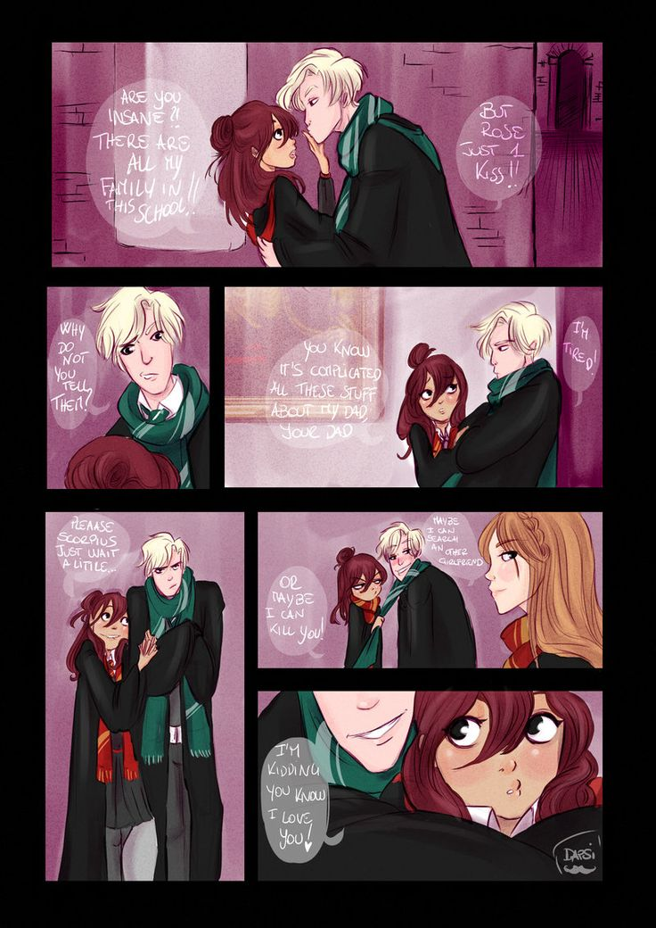 Rose and Scorpius getting together at hogwarts, soso cute but still, i really worry for this fandom
