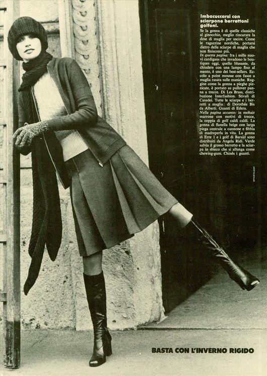 Vogue Italia 1973  Vintage: gli stivali nella moda di ieri e di oggi - Vogue.it