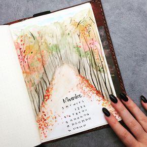 Ich habe den Tag damit verbracht, die Verteilung meines Bullet-Journals im November zu planen – #bullet #damit #journals #meines #November