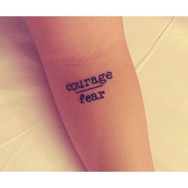 Courage vs. Fear tiny tattoo