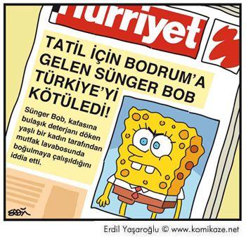 OĞUZ TOPOĞLU : tatil için bodrum'a gelen sünger bob türkiye'yi kö...