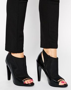 Enlarge ASOS EMPIRE STATE OF MIND Peep Toe Shoe Boots