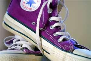 Converse Hi-Tops in Electric Purple