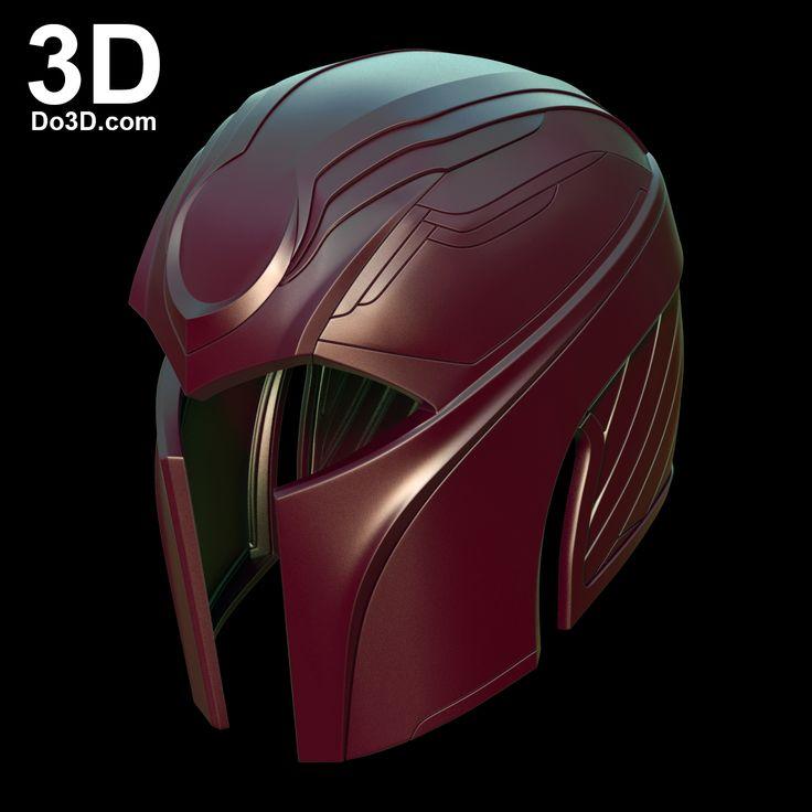 3D printable X-Men Apocalypse Magneto helmet by Do3D.com