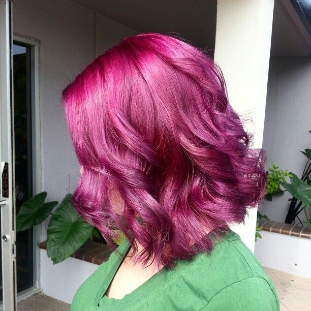 Magenta Punky Colors Purple Short Hair Styles