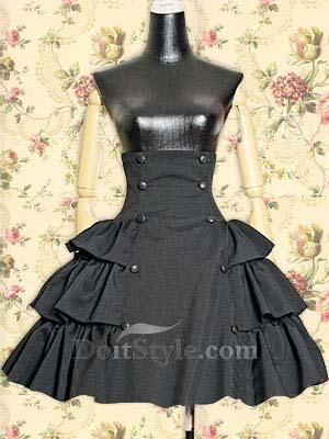 Lolita Skirt with a lot of potential. Would work great for a Marie Antoinette-inspired outfit if pastel-coloured.