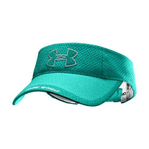 Women's UA Change Up Visor Headwear by Under Armour One Size Fits All Jade River by Under Armour. $12.99. Allover performance mesh accelerates dry time for extreme ventilation. Ultra-lightweight construction for enhanced comfort. Contrast mesh logo and visor detail with Under Armou® script. Adjustable comfort closure in the back. Polyester Twill. Imported.