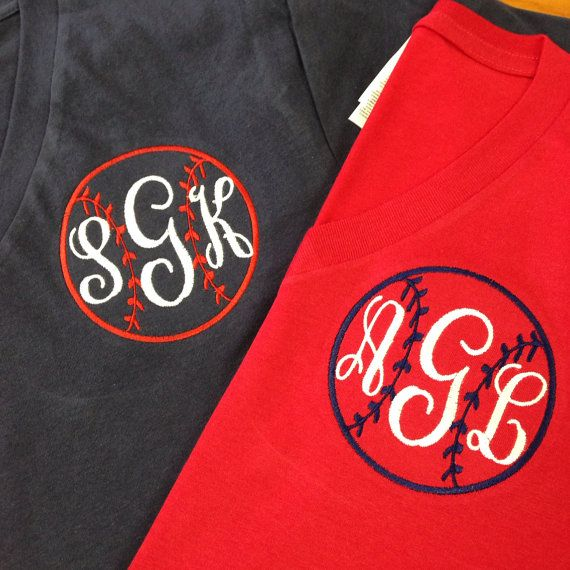 Hey, I found this really awesome Etsy listing at https://www.etsy.com/listing/185763088/monogram-baseball-shirt-includes