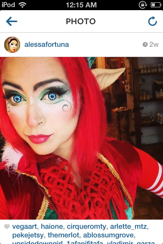 Cute elf makeup!