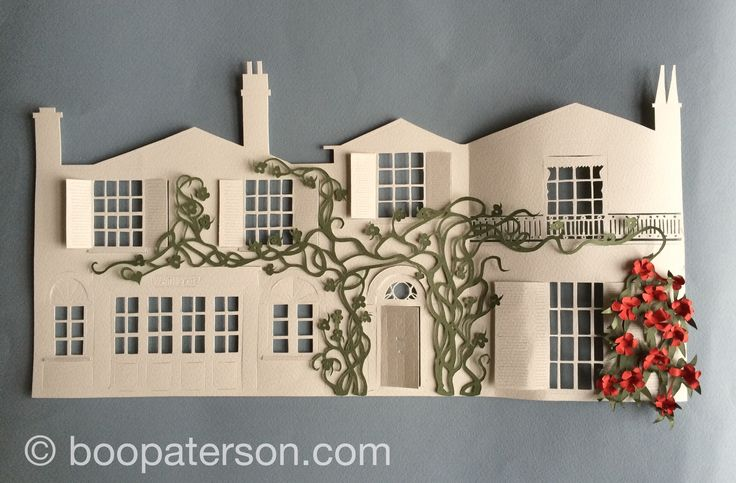 Papercut house by Boo Paterson. Private commission. To commission your own work, go to boopaterson.com