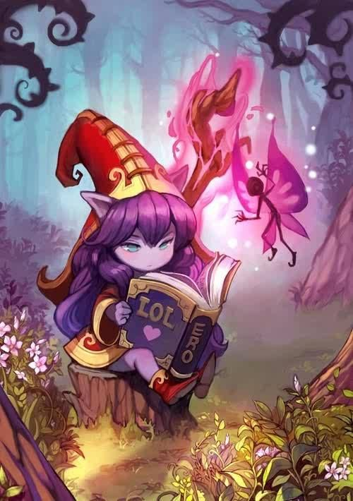 Lulu Reading his favorite book - Lulu Art LoL