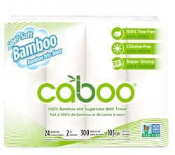 Caboo Bamboo & Sugarcane Bathroom Tissue Jumbo Rolls 2 Ply $25.99 - from Well.ca