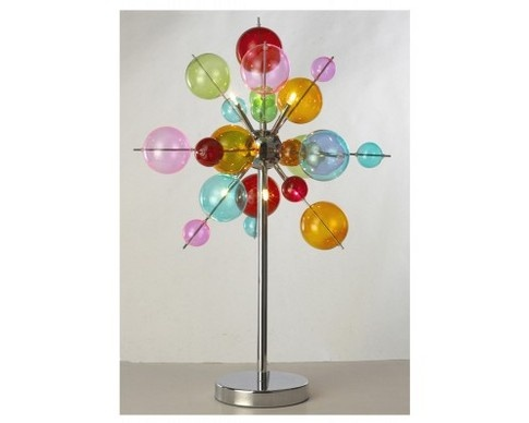 Deluxe 6 Light table lamp multi coloured