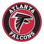 NFL Atlanta Falcons Black 2 ft. 3 in. x 2 ft. 3 in. Round Accent Rug