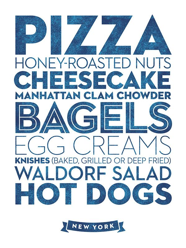 Awesome City Food Posters - Design - ShortList Magazine
