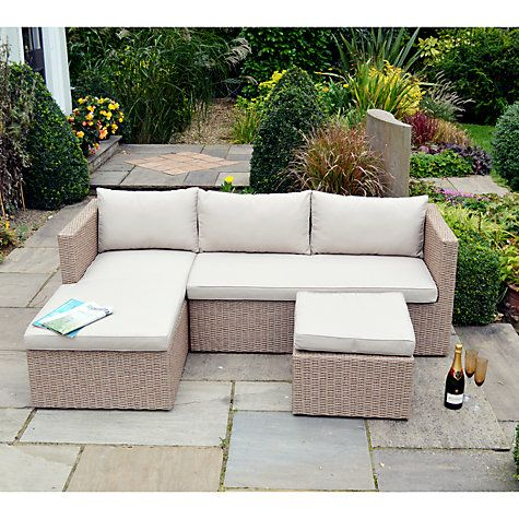 Buy LG Outdoor Saigon Rustic Weave Outdoor Sofa with Chaise Longue ...