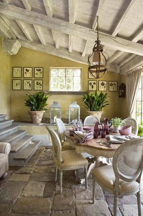 Spring Inspired French Country Sun-Room or Dining Room