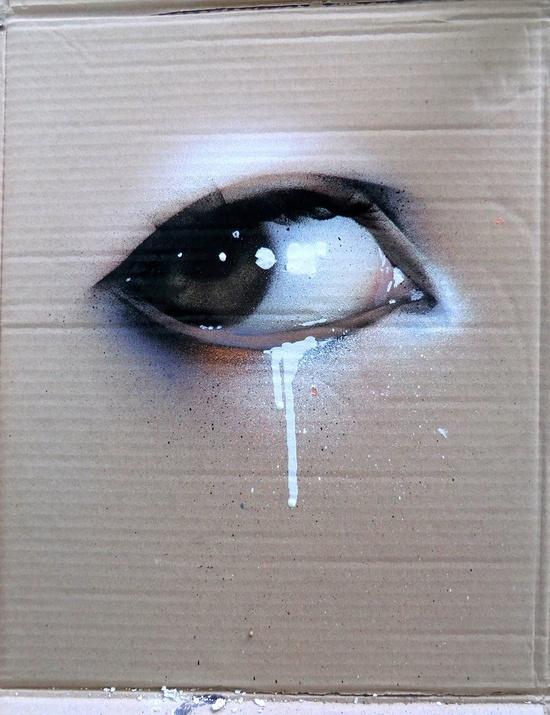 grafitti eye #street art