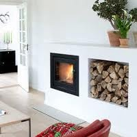 wood stove inset modern - Google Search