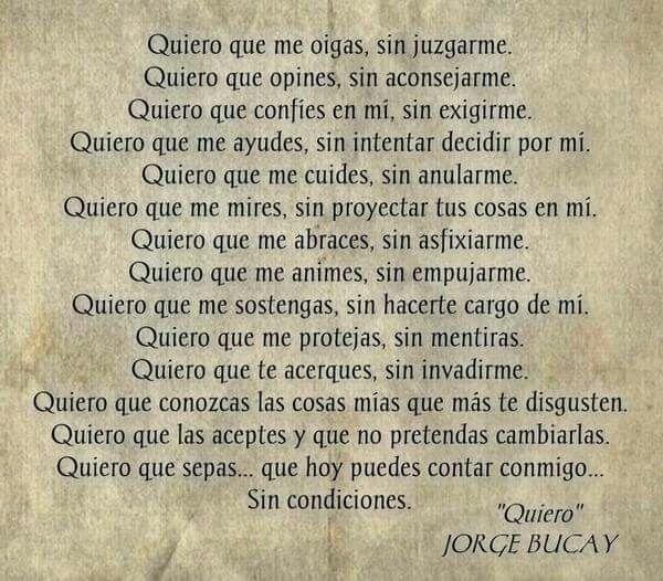 Quiero. Jorge Bucay.