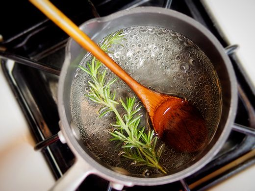 Steep rosemary in simple syrup