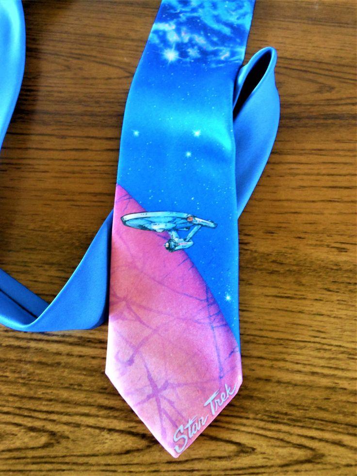 Ralph Marlin Star Trek Tie, Star Trek VI: The Undiscovered Country Necktie, Star Trek 25th Anniversary Necktie, Starship Enterprise Necktie by AKitschIsJustAKitsch on Etsy