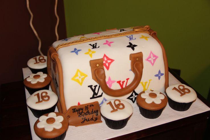 sweet 16 luis vuitton cake