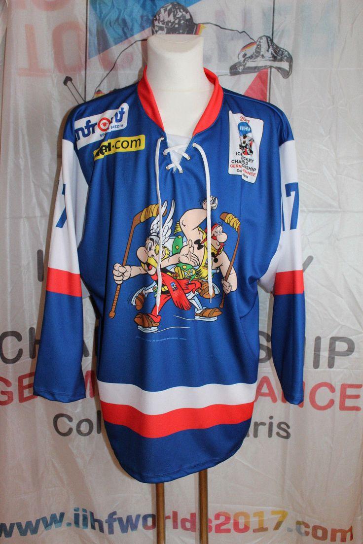 Eishockey WM 2017 Asterix und Obelix Trikot + Fahne - IIHF - France - Paris - | eBay