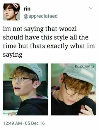 i'm not saying woozi has to do his hair like this all the time but i'm saying woozi has to do his hair like this all the time. sorry i don't make the rules