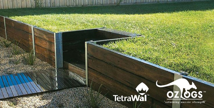 pictures of timber walls with metal posts - Google Search