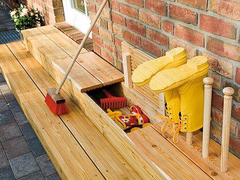 die besten 25+ terrassen treppe ideen auf pinterest | patio steps ... - Terrasse Aus Holz Gestalten Gemutlichen Ausenbereich
