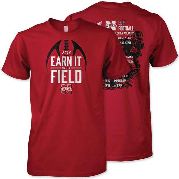 2014 Nebraska Huskers schedule tee $19.99 Are you ready for Nebraska Football? Show off your love for the Huskers and get ready for gameday with this exclusive schedule design tee.  100% Cotton Screenprinted front and back graphics 2014 Husker schedule on back Red Zone exclusive design