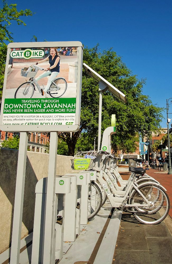 Savannah's bike share is CAT Bike and if you're familiar with B-cycle in other cities, these are the same bikes.
