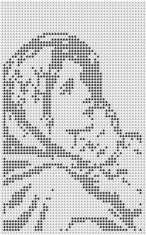 madonna and child / christmas / originally filet crochet pattern