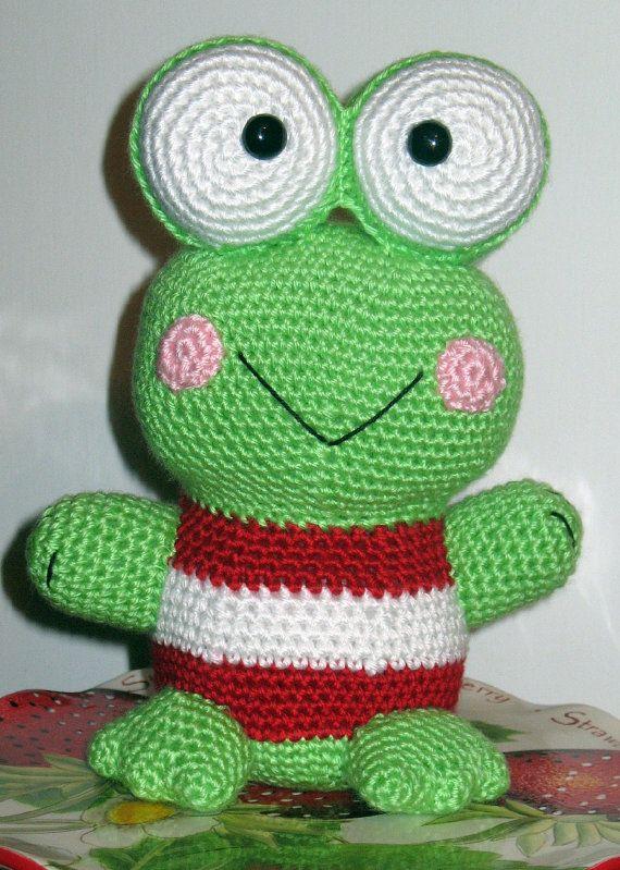 Free Super Mario Amigurumi Patterns : Keroppi Amigurumi Frog Crochet Frog Frog by ...