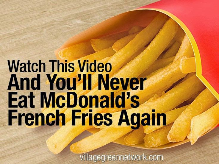 Watch This Video And You'll Never Eat McDonald's French Fries Again
