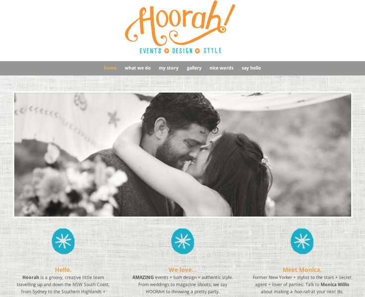 Hoorah Events — a virtual champagne cork POP of a website!