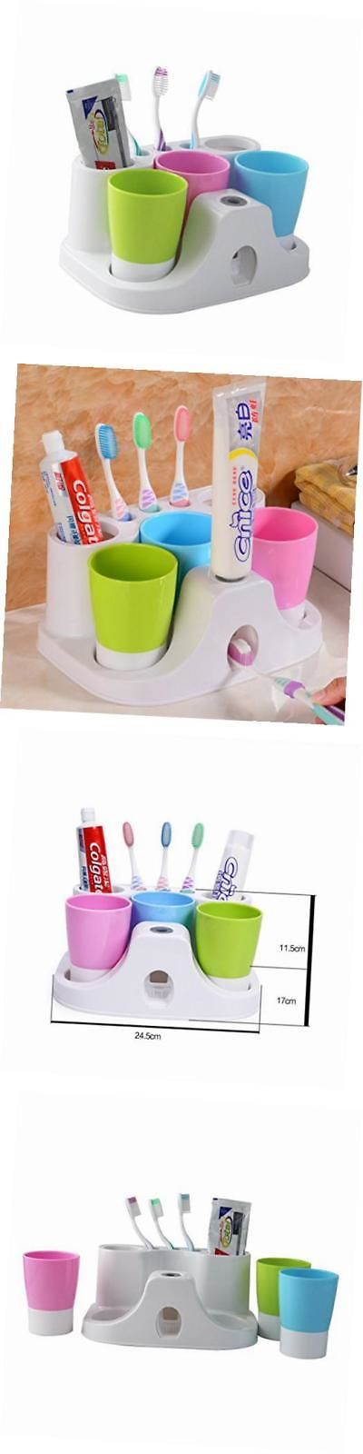 Toothbrush Holders 25453: Kids Toothbrush Holder Set Toothpaste Dispenser With 3 Tooth Mugs, Stand -> BUY IT NOW ONLY: $40.3 on eBay!