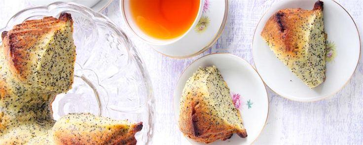 Orange & lemon buttermilk poppy seed cake. #Recipe